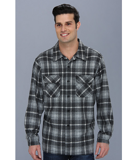 Pendleton - L/S Board Shirt (Charcoal/Grey Plaid) Men's Long Sleeve Button Up
