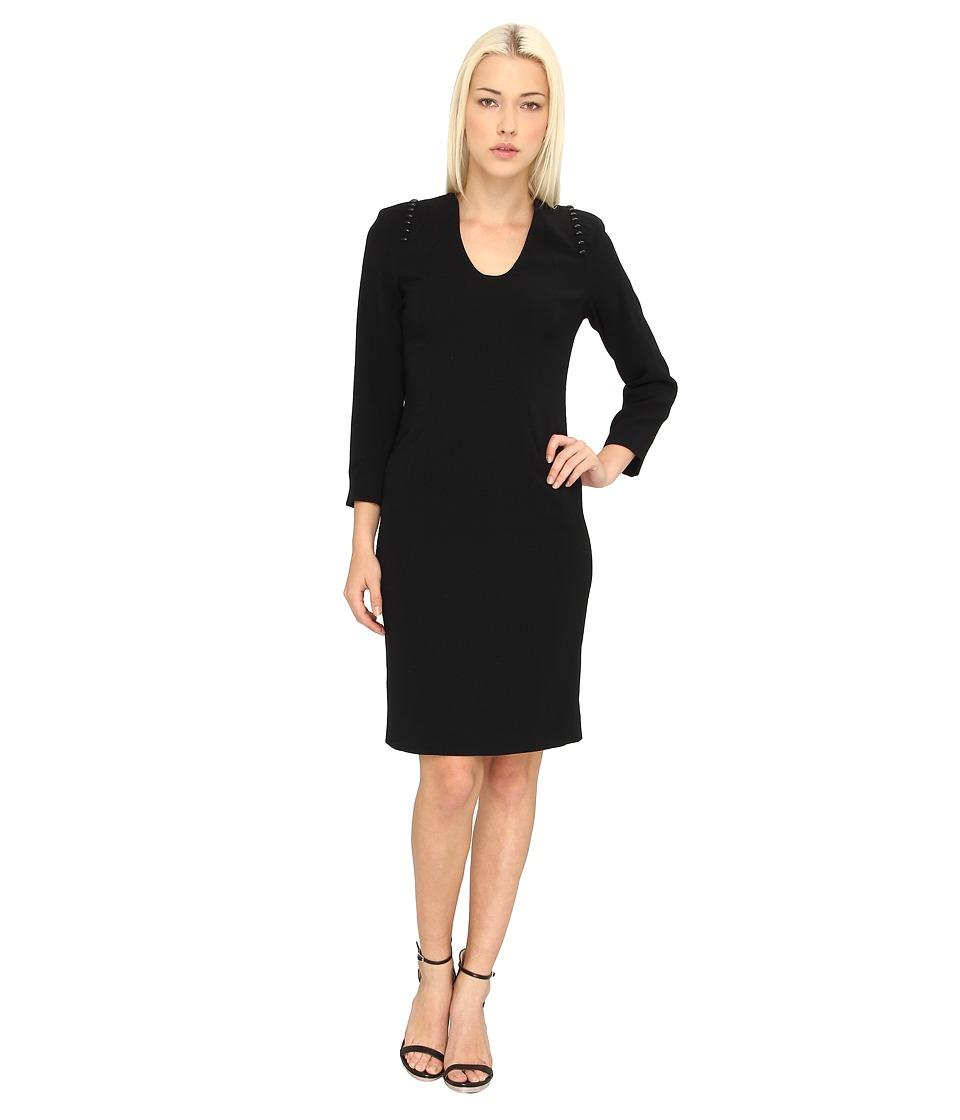 Rachel Roy - L/S Studded Dress (Black) Women's Dress