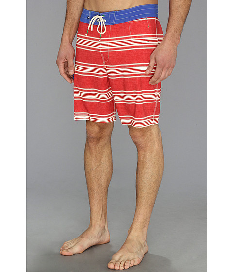 Sperry Top-Sider - Sailaway Stripe Boardshort (Ribbon Red) Men's Swimwear