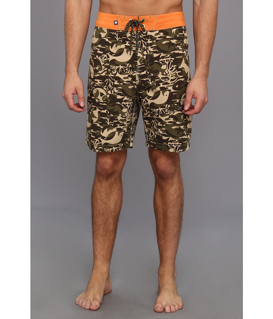 Sperry Top-Sider - The Marina Corps Boardshort (Fatigue) Men's Swimwear