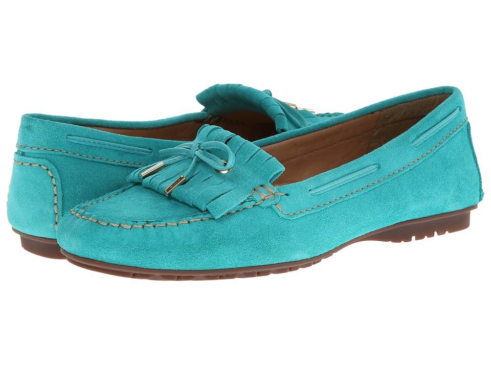 Sebago - Meriden Kiltie (Turquoise Nubuck) Women's Shoes