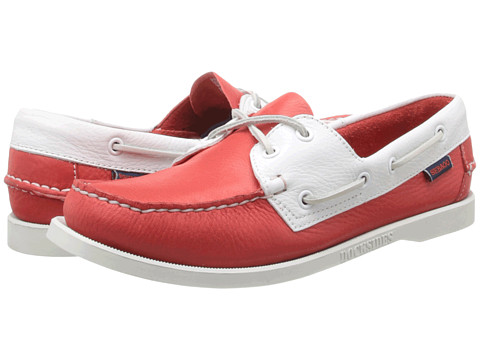 Sebago Spinnaker (Red/White) Women's Lace up casual Shoes