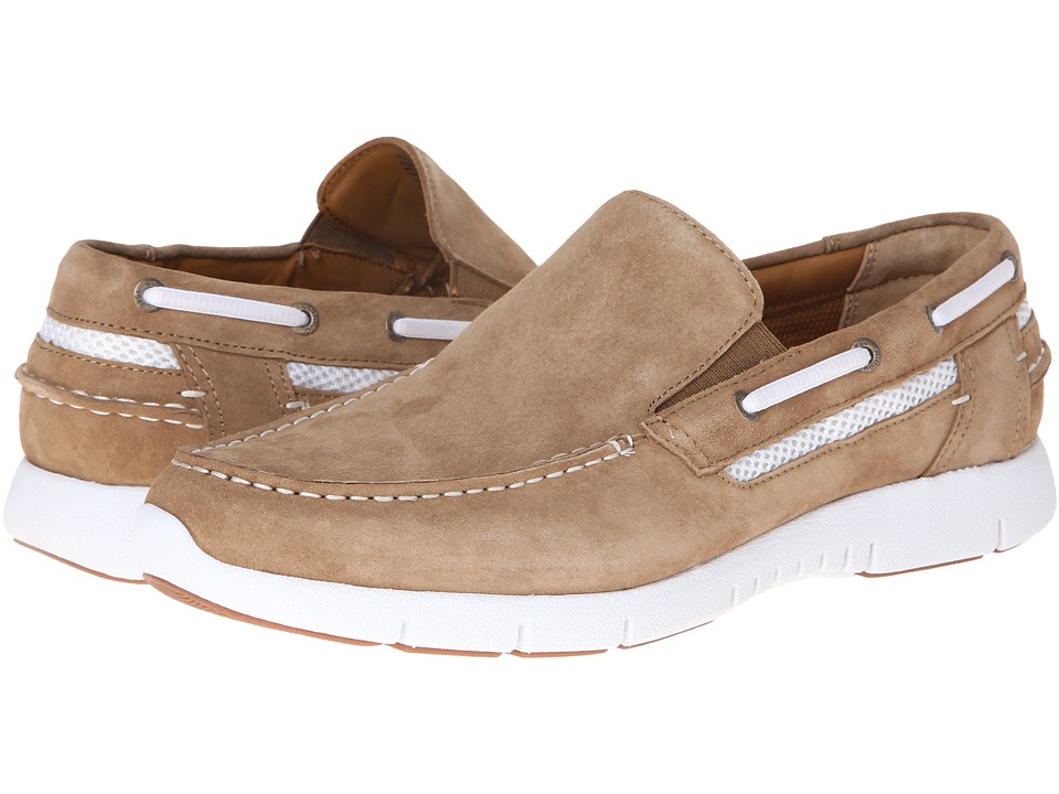 Sebago - Kingsley Slip-On (Taupe Suede) Men's Slip on Shoes