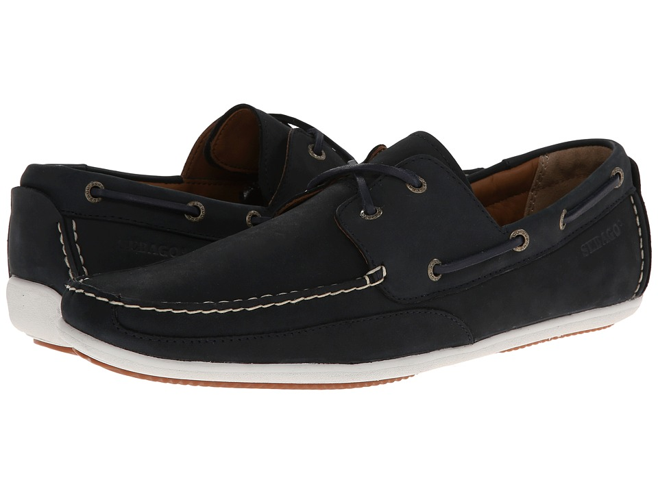 Sebago Canton TwoEye Navy Nubuck Mens Shoes