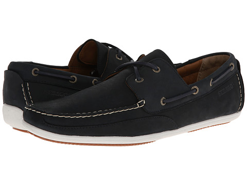 Sebago - Canton Two-Eye (Navy Nubuck) Men