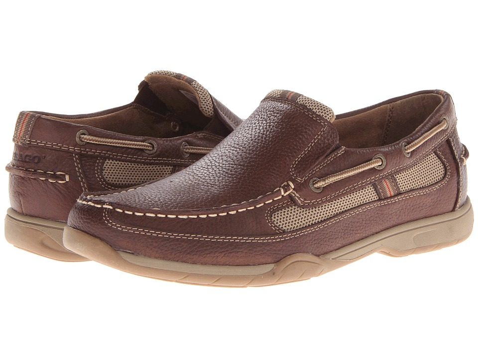 Sebago - Carrick Slip-On (Brown Pebble) Men's Slip on Shoes