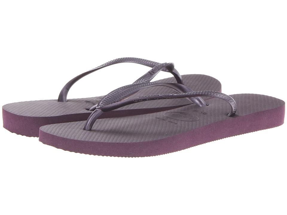 Havaianas - Slim Flip Flops (Aubergine) Women's Sandals