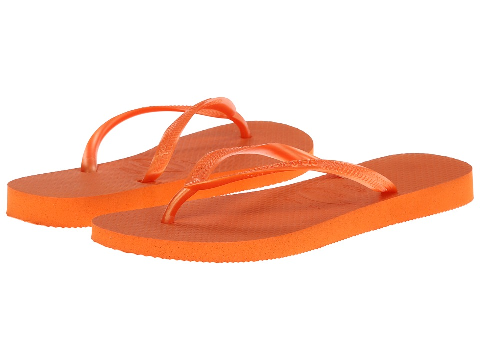 Havaianas - Slim Flip Flops (Neon Orange) Women's Sandals