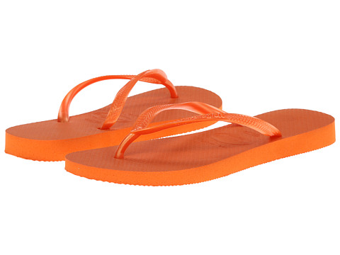 Havaianas - Slim Flip Flops (Neon Orange) Women
