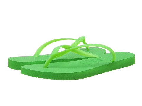 Havaianas - Slim Flip Flops (Neon Green) Women's Sandals