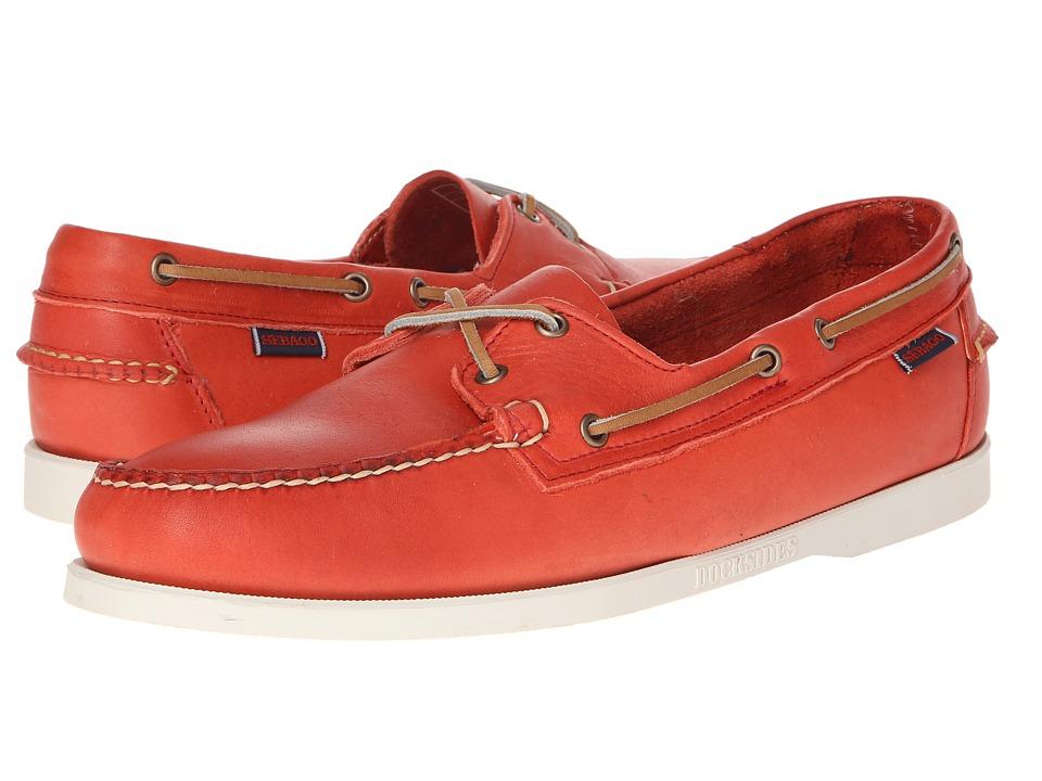 Sebago - Horween Docksides (Bright Red) Men's Slip on Shoes