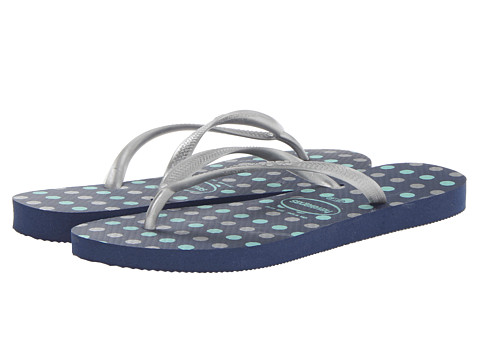 Havaianas - Slim Fresh Flip-Flops (Navy Blue) Women's Sandals