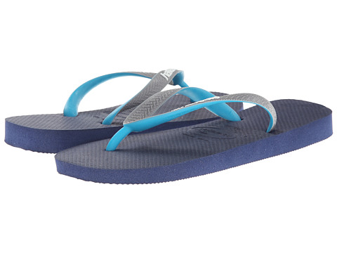 Havaianas - Top Mix Flip Flops (Navy/Grey/Green) Women