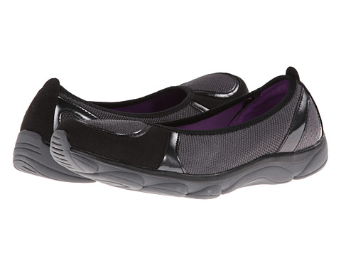 Easy Spirit - Raveena (Dark Grey Multi Fabric) Women's Flat Shoes