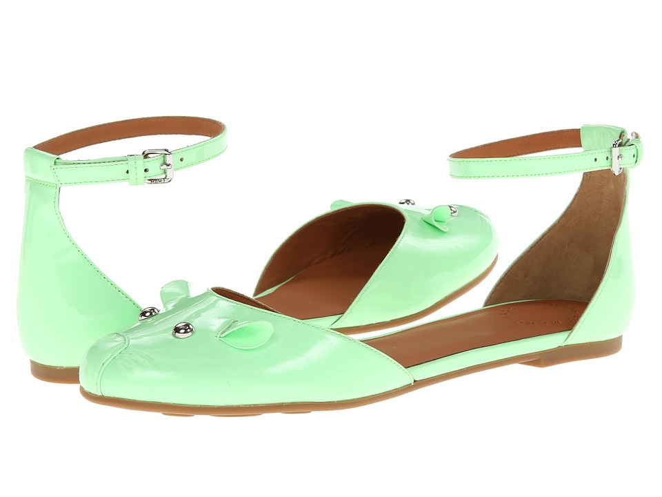 Marc by Marc Jacobs - Ankle Strap Mouse Ballerina (Green) Women's Flat Shoes