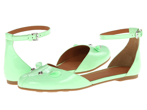 Marc by Marc Jacobs - Ankle Strap Mouse Ballerina (Green) Women