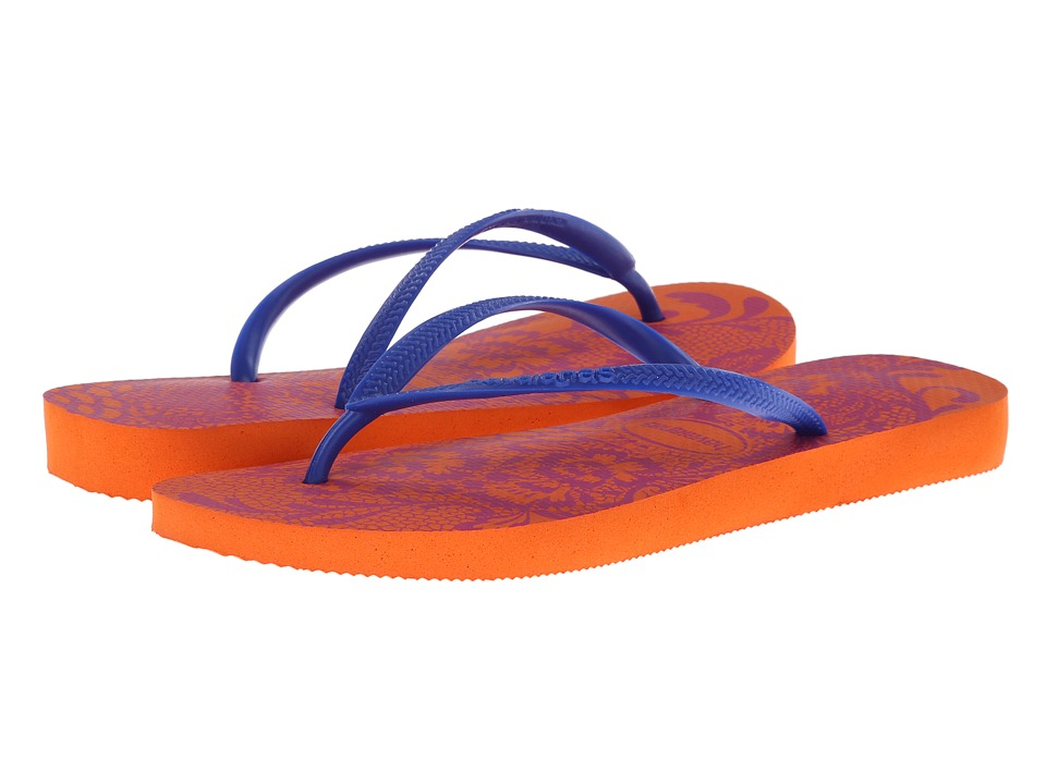 Havaianas - Slim Lace Flip Flops (Neon Orange) Women