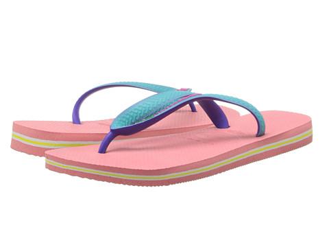 Havaianas - Brazil Mix Flip Flops (Coral) Women's Sandals