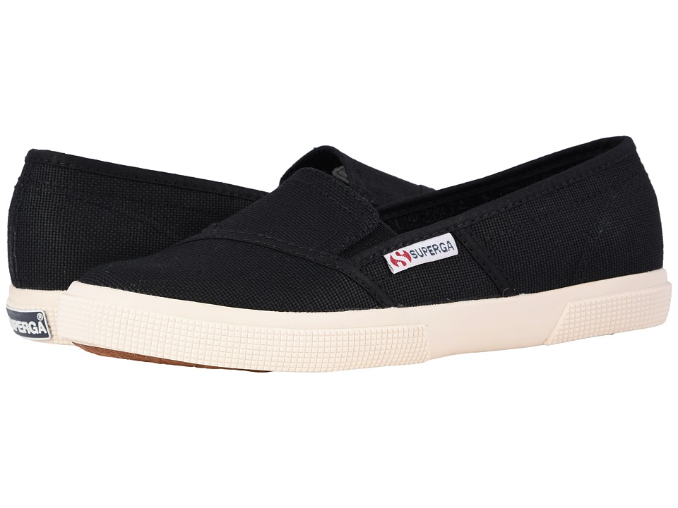 Superga - 2210 COTW Slip-On (Black) Women's Slip on Shoes
