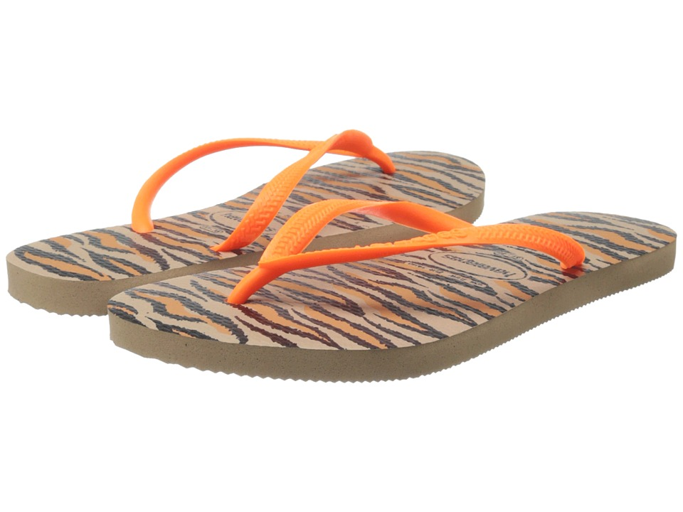 Havaianas - Slim Animals Fluo Flip Flops (Rose Gold) Women