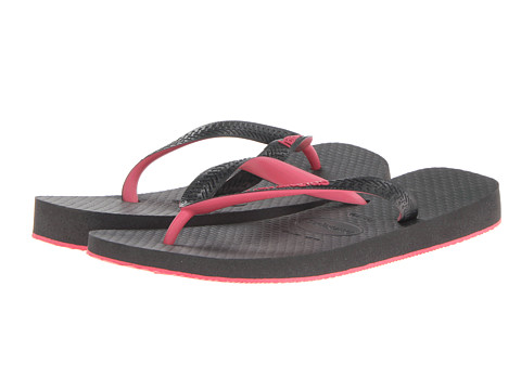 Havaianas - Top Tred Flip Flops (Black/Pink) Women's Sandals