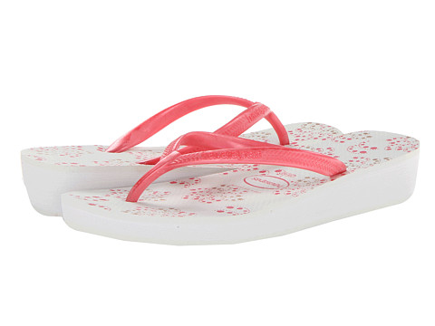 Havaianas - High Light II Flip Flops (White/Pink) Women's Sandals