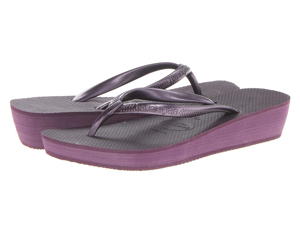 Havaianas - High Light Flip Flops (Aubergine) Women's Sandals