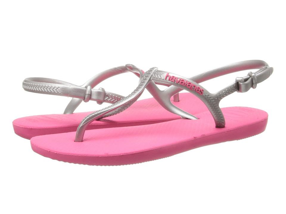 Havaianas - Freedom Flip Flops (Pink/Silver) Women's Sandals