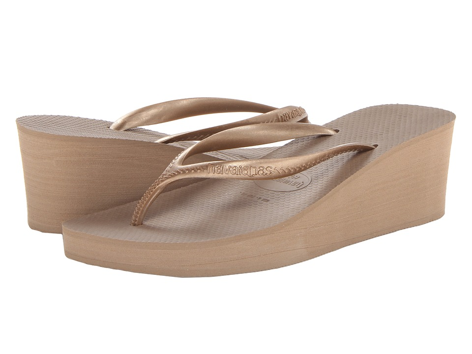Havaianas - High Fashion Flip Flops (Rose Gold) Women's Sandals