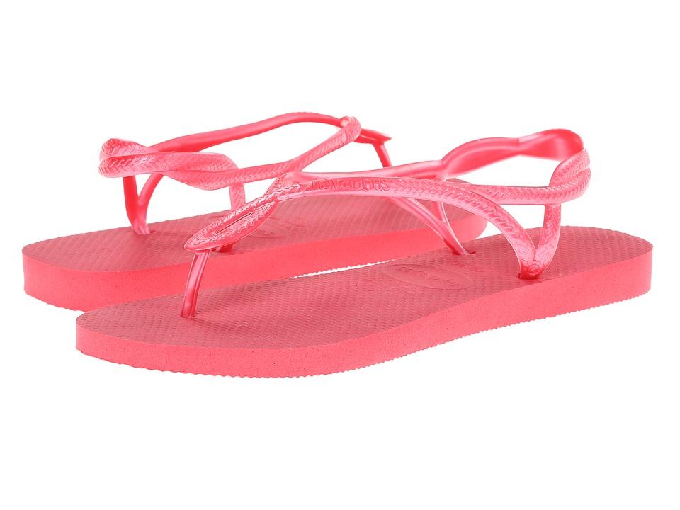 Havaianas - Luna Flip Flops (Neon Pink) Women's Sandals