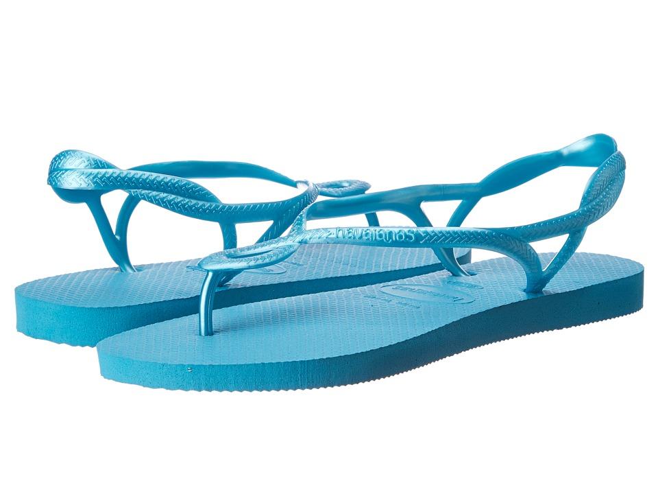 Havaianas - Luna Flip Flops (Capri Blue) Women