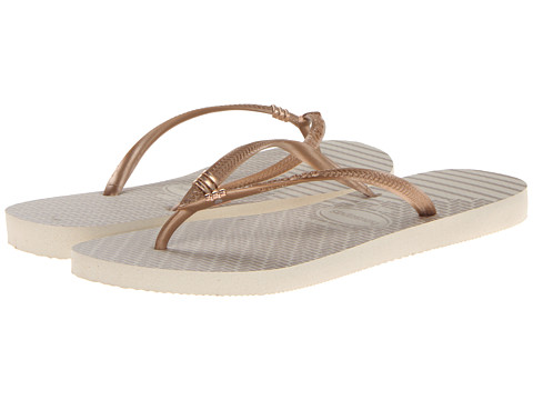 Havaianas - Slim Tribal Flip Flops (Beige) Women's Sandals