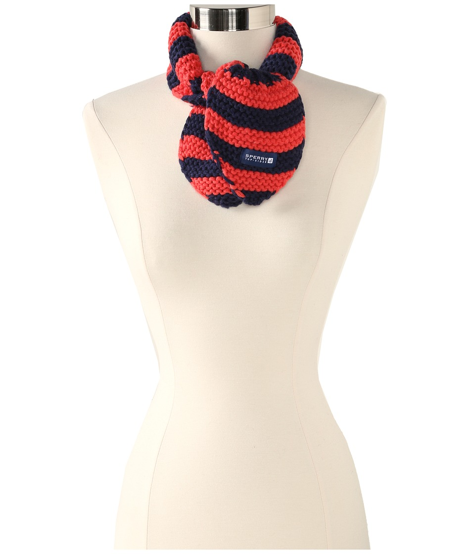 Sperry Top-Sider - Striped Ascot (Coral) Scarves