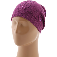 SALE! $14.99 - Save $10 on Sperry Top Sider Cable Knit Sequin Beanie w Pom (Purple) Hats - 40.04% OFF $25.00