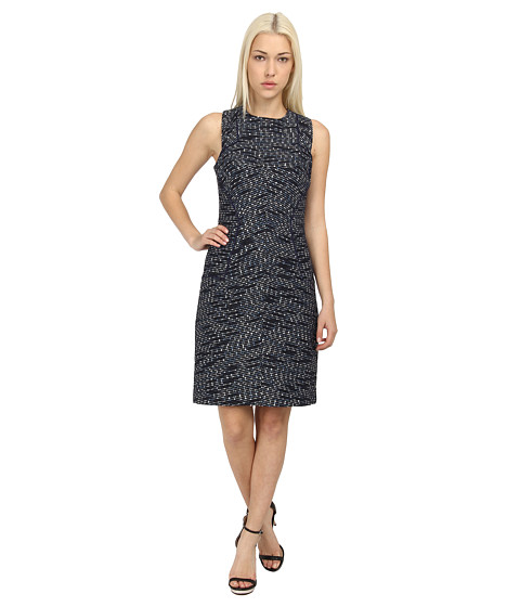 Rachel Roy - Combo Tweed Dress (Navy/Natural) Women's Dress