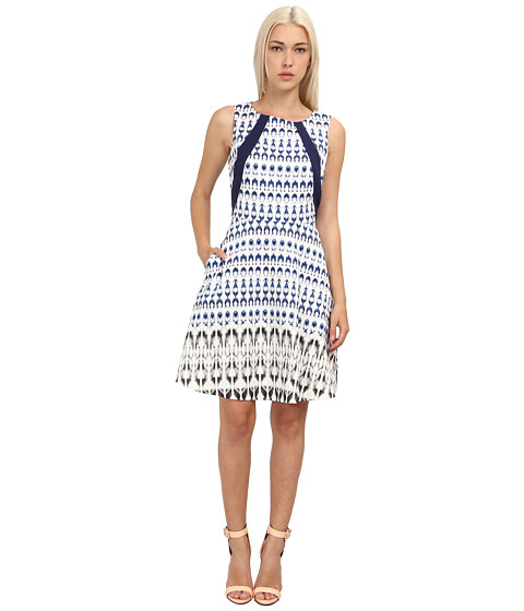 Rachel Roy - Print Flare Dress (Navy Multi) Women