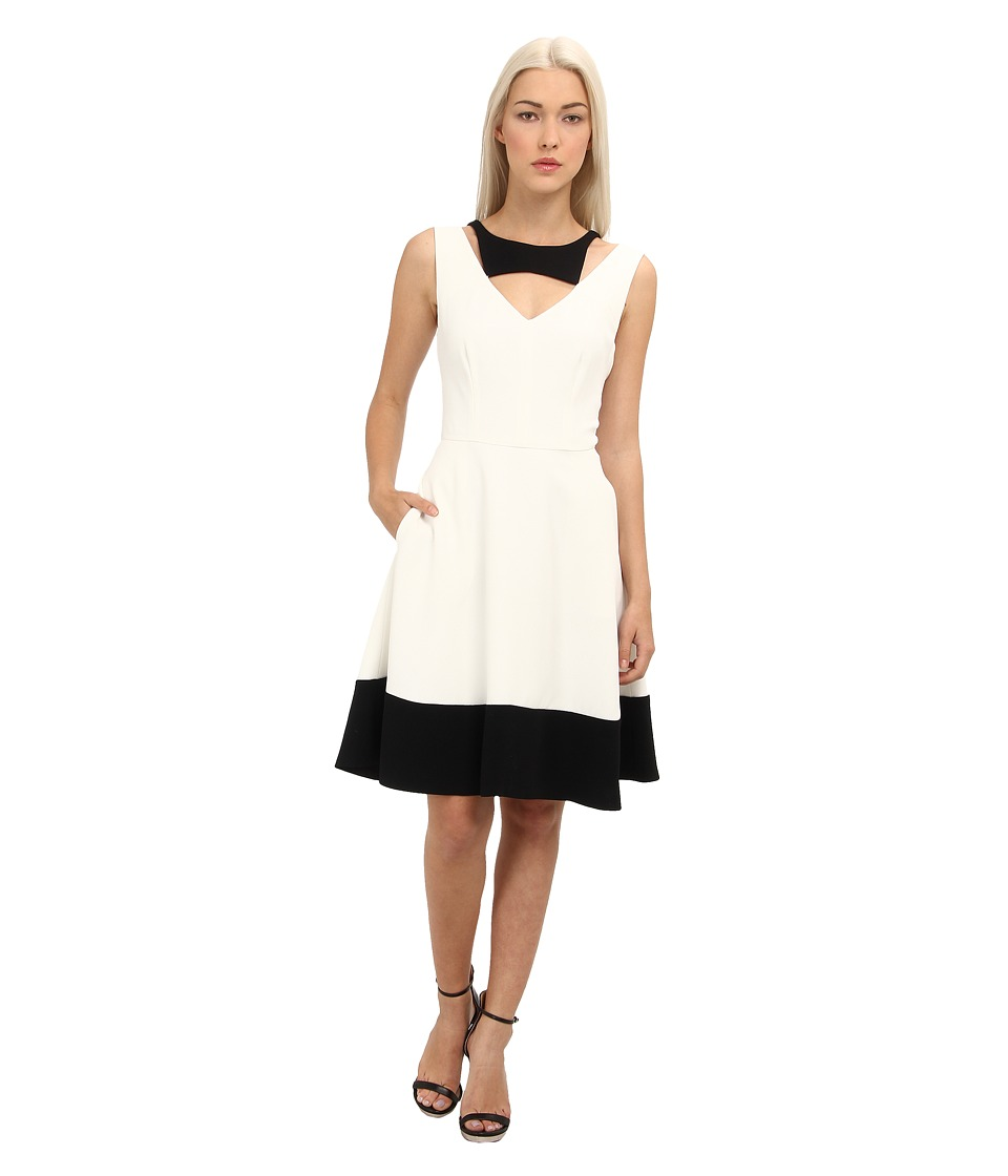 Rachel Roy - Color Block Dress (White/Black) Women's Dress