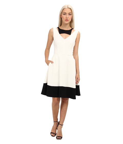 Rachel Roy - Color Block Dress (White/Black) Women