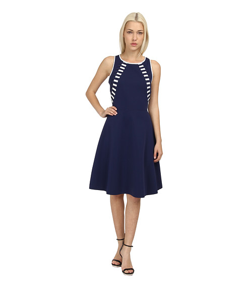 Rachel Roy - Flared Dress (Navy) Women's Dress