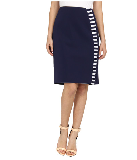 Rachel Roy - Bonded Jersey Pencil Skirt (Navy) Women's Skirt