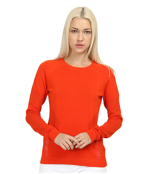 Rachel Roy - Mesh Inset Top (Chilled Punch) Women's Clothing