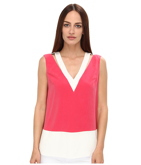 Rachel Roy - Cut Out Shell (Strawberry/White) Women