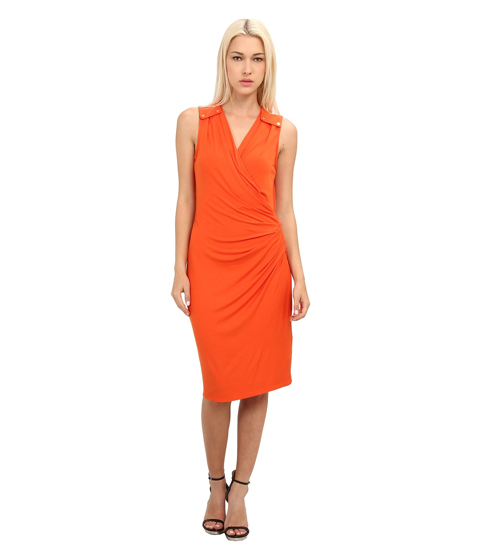 Rachel Roy - Epaulette Dress (Tangerine) Women's Dress