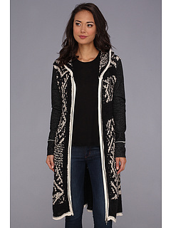 SALE! $106.99 - Save $161 on Free People White Moon Cardigan (Charcoal) Apparel - 60.08% OFF $268.00
