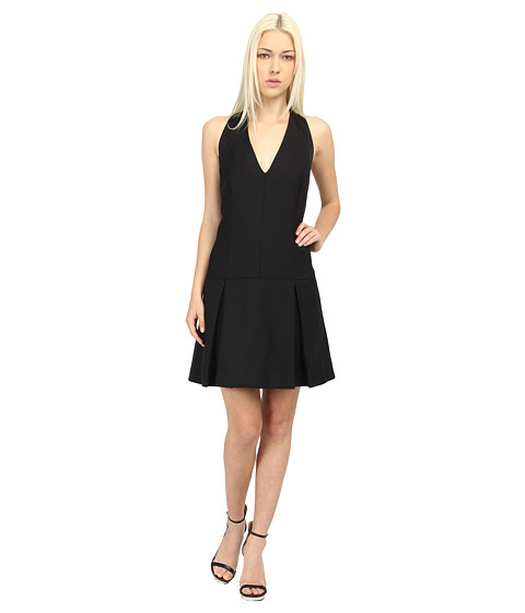 McQ - 339145 RBA11 1015 Tux Line Dress (Velvet Black) Women's Dress
