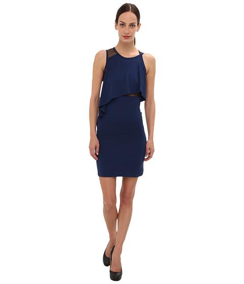 McQ - 337738 RBJ45 4132 Mesh Lace Dress (Sapphire) Women's Dress