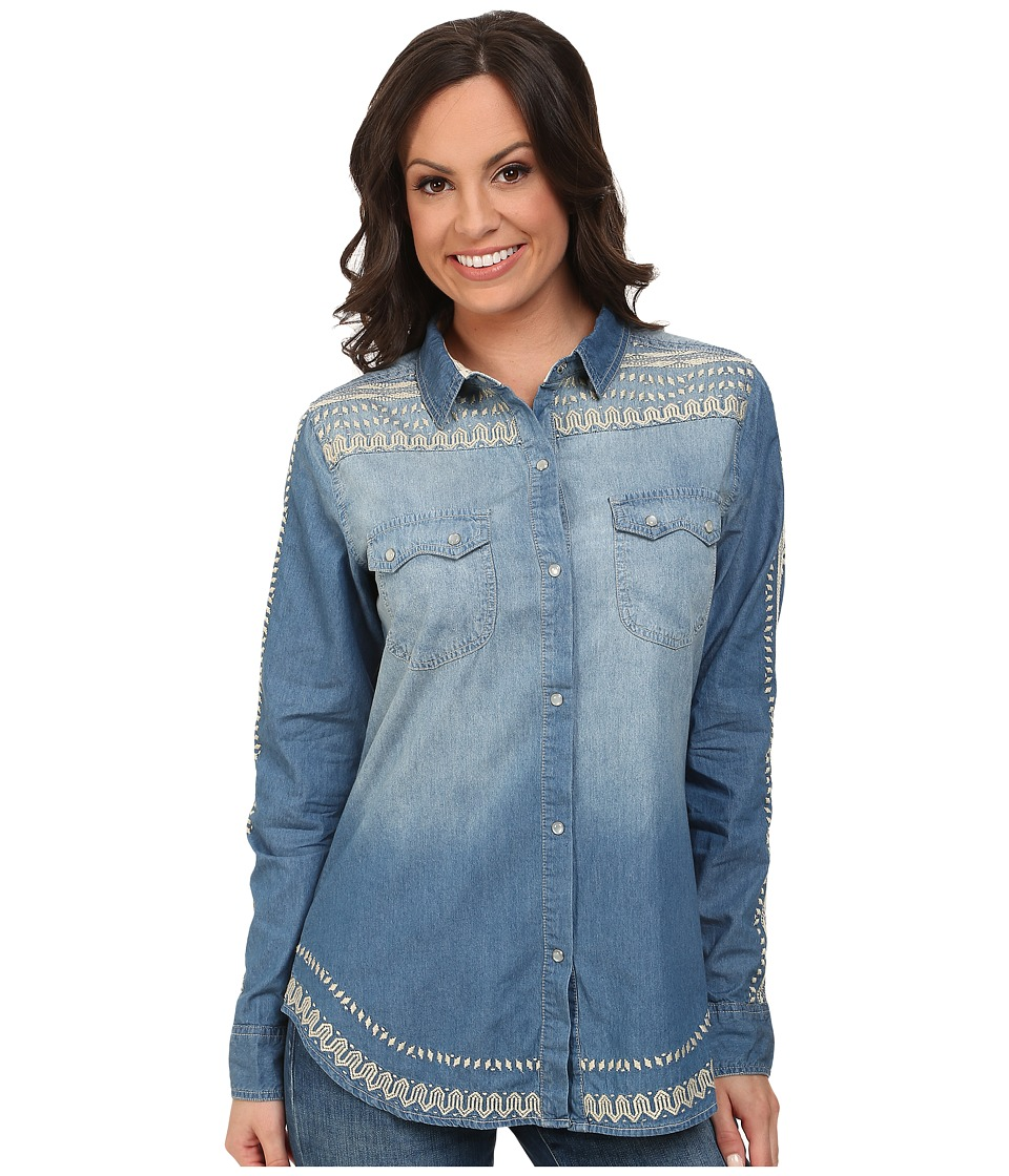 Tasha Polizzi - Cibola Shirt (Blue) Women's Long Sleeve Button Up