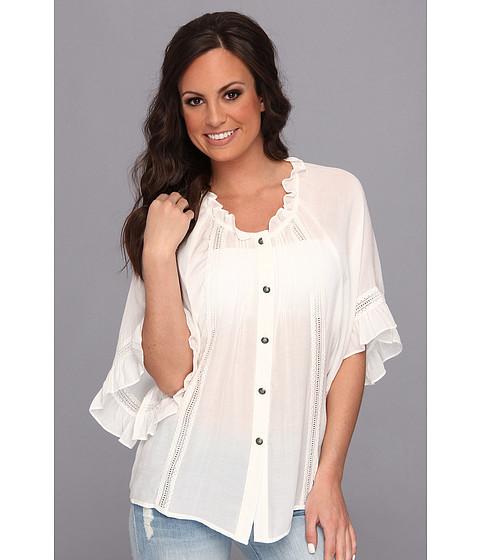 Tasha Polizzi - Love Shirt (White) Women's Blouse