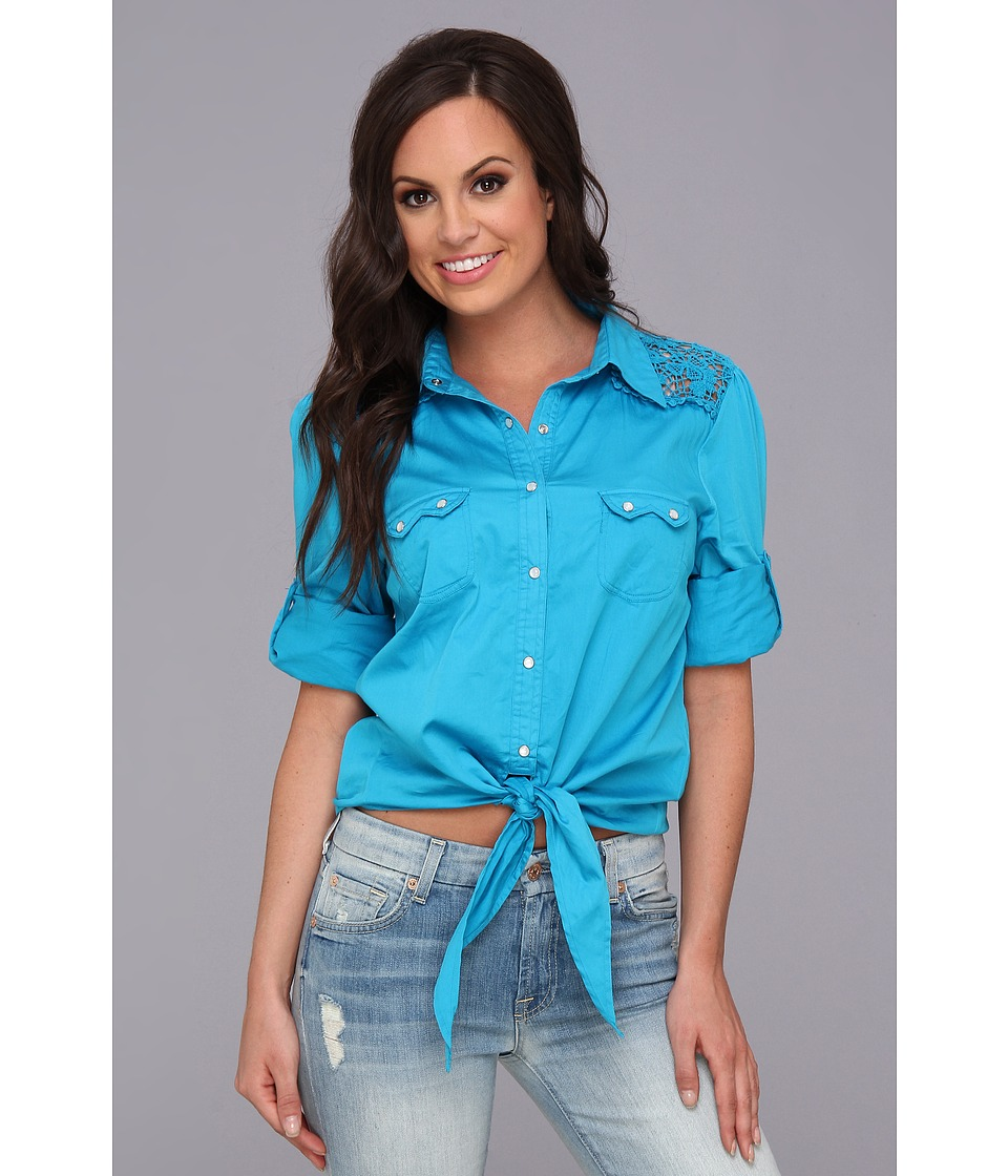 Tasha Polizzi - Tabasco Shirt (Laguna) Women's Long Sleeve Button Up