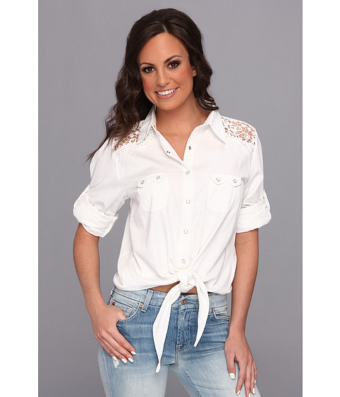 Tasha Polizzi - Tabasco Shirt (White) Women's Long Sleeve Button Up